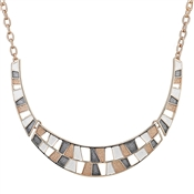 August Woods Rose Gold Trio Geometric Collar Necklace