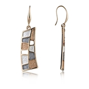 August Woods Rose Gold Trio Geometric Earrings