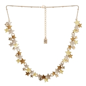 August Woods Outlet  Rose Gold Trio Star Necklace