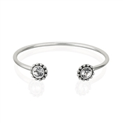 August Woods Silver Crystal Torque Bangle
