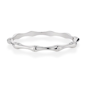 Dirty Ruby Outlet Silver Wave Bangle