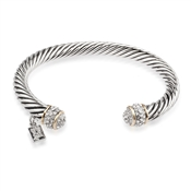 August Woods Society Pave Crystal Torque Bangle