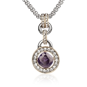 August Woods Society Round Amethyst Necklace