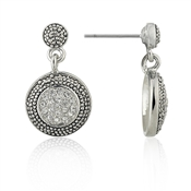 August Woods Society Small Pave Drop Earrings