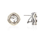 August Woods Society Square Crystal Studs