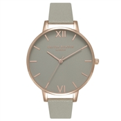 Olivia Burton Big Dial Grey Dial & Rose Gold Watch