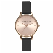 Olivia Burton Midi Dial Black & Rose Gold Watch