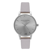 Olivia Burton Midi Dial Grey Lilac and Silver Watch