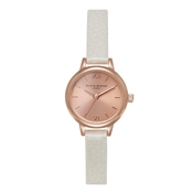 Olivia Burton Mini Dial Mink and Rose Gold Watch
