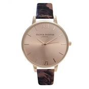 Olivia Burton Painterly Prints Floral Strap and Rose Gold Watch