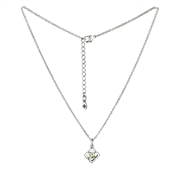 Karma Outlet August Birthstone Silver Necklace