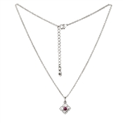 Karma February Birthstone Silver Necklace