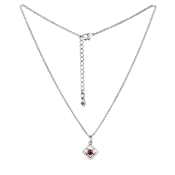Karma Outlet January Birthstone Silver Necklace