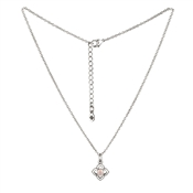 Karma Outlet Silver Pink Opal June Necklace