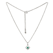 Karma Outlet May Birthstone Silver Necklace