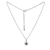 Karma Outlet September Birthstone Silver Necklace