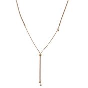 Argento Outlet Rose Gold Slider Necklace