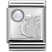Nomination BIG Gemini Zodiac Silvershine Charm