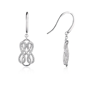 Argento Pave Knot Drop Earrings