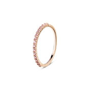 Argento Rose Gold Pave Band Ring