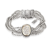 August Woods Society Pave Multi Chain Bracelet