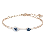 Swarovski Duo Crystal Evil Eye Bangle