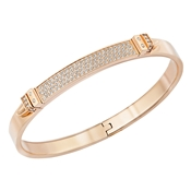 Swarovski Distinct Rose Gold Narrow Bangle