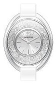 Swarovski Crystalline Oval White & Steel Watch