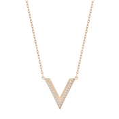 Swarovski Delta Small Rose Gold Necklace