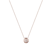 Argento Rose Gold Pave Circle Necklace