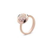 Argento Rose Gold Pave Circle Ring