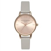 Olivia Burton Midi Dial Grey and Rose Gold Watch
