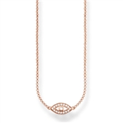 Thomas Sabo Rose Gold Nazar's Eye Necklace
