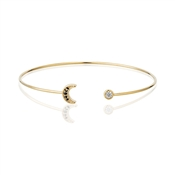 Dirty Ruby Rose Gold Moon Bangle