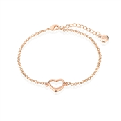 Dirty Ruby Rose Gold Heart Bracelet