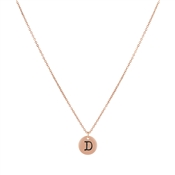 Dirty Ruby Rose Gold Letter D Necklace