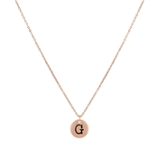 Dirty Ruby Rose Gold Letter G Necklace