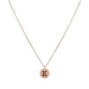 Dirty Ruby Rose Gold Letter K Necklace
