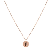 Dirty Ruby Rose Gold Letter P Necklace