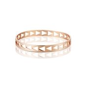 Dirty Ruby Outlet Rose Gold Triangle Bangle