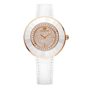 Swarovski Octea Dressy White and Rose Gold Watch