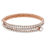 Swarovski Twisty Rose Gold Drop Bangle