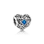 Pandora December Signature Heart Birthstone Charm