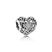 PANDORA June Signature Heart Birthstone Charm