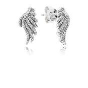 Pandora Majestic Feathers Stud Earrings