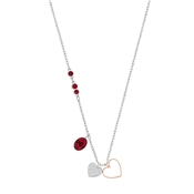 Swarovski Duo Small Heart Siam Pendant