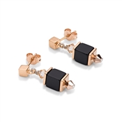 Coeur De Lion Rose Gold Cube Earring