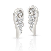 Nomination Angel Silver CZ Wing Stud Earrings