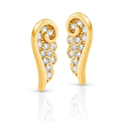 Nomination Angel Gold CZ Wing Stud Earrings