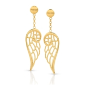 Nomination Angel Gold Drop Wing Earrings